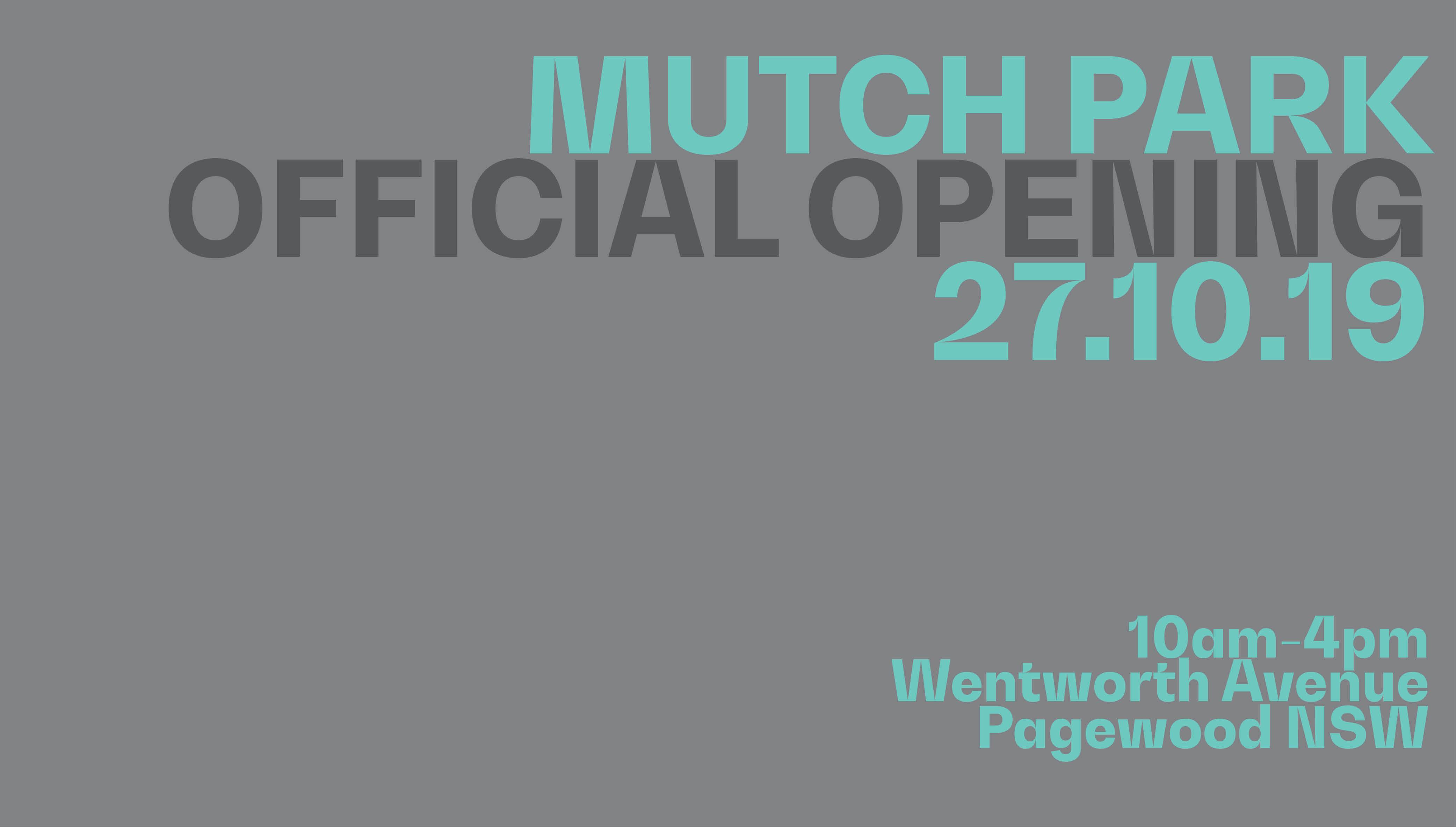 Mutch Park Opening