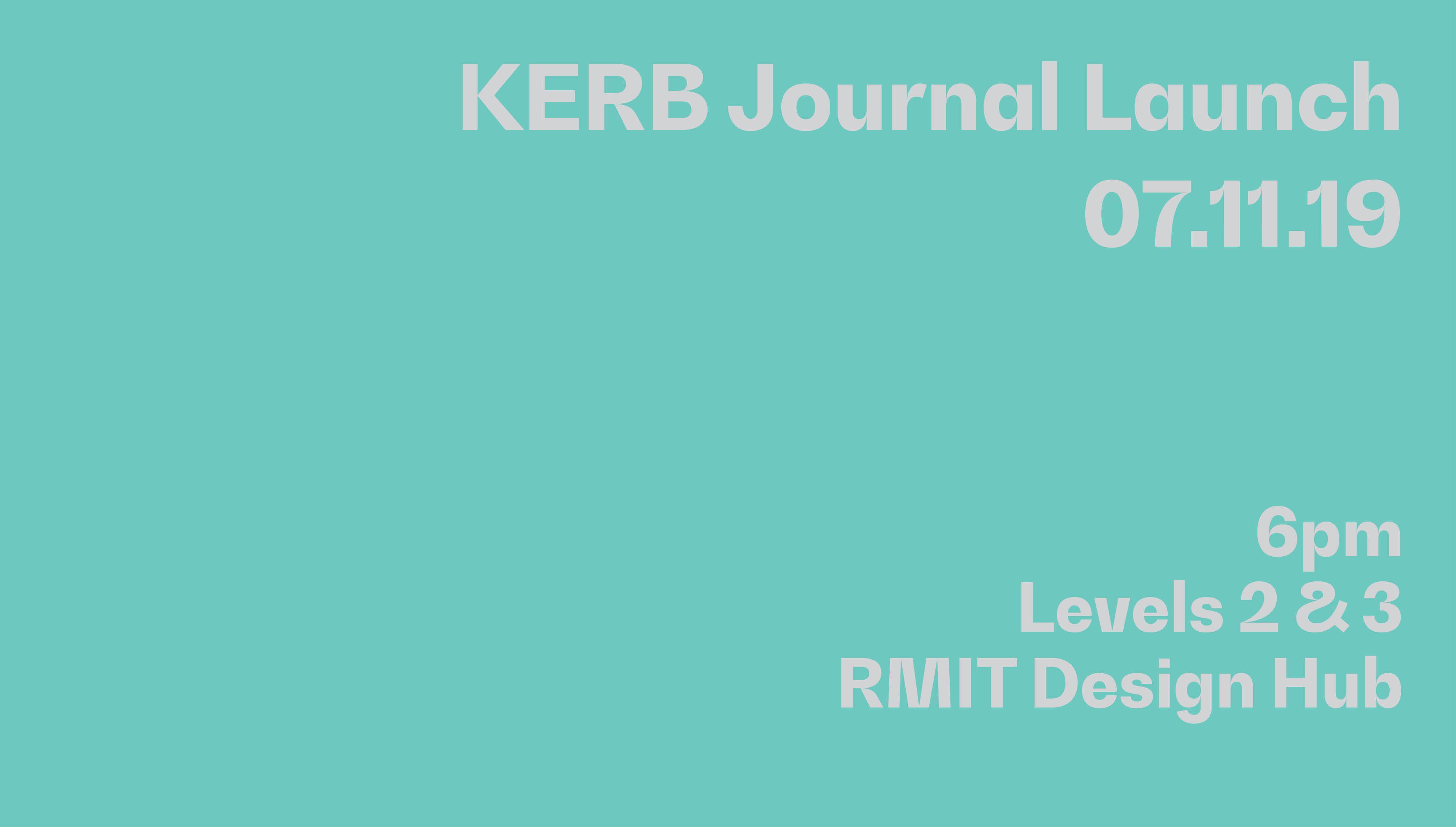 KERB Journal Launch